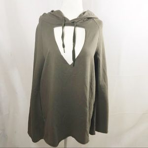 NWT PROJECT SOCIAL T olive green hoodie sweater UO